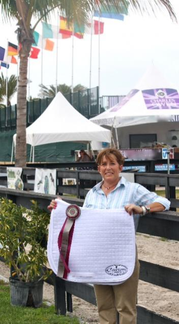 Shelly Francis was presented with the Custom Saddlery Most Valuable Rider Award at the 2013 Adequan Global Dressage Festival Wellington 5* CDI