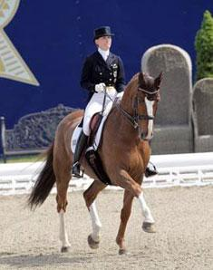 Best German competitor in Hagen and first time competing since WEG, Anabel Balkenhol and Dablino