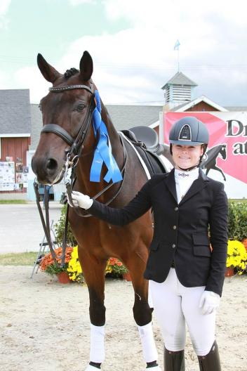 """Barbara ""Bebe"" Davis and Rotano at Dressage at Devon"