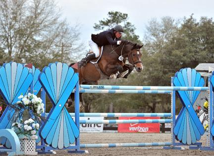 David Beisel and Ammeretto jump their way to a win in the ,000 SmartPak Grand Prix, presented by Zoetis at HITS Ocala. ©ESI Photography