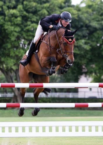 David Blake and Lisalba rode to the Wellington Turf Tour 1.30m-1.35m victory at IPC for Week 9 of the series.