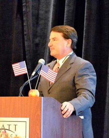 David O'Connor delivered the keynote address at the USEA Annual Meeting. Photo by Jenni Autry.