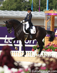 A wonderful Olympic debut for Kristina Sprehe and Desperados. They finished 8th in the kur. (Photo © Astrid Appels)