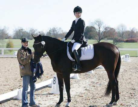 Shelly Schoenfeld owner of Donabella and rider Cecilia Cox at the 2013 US Dressage Finals Photo: DressageDaily