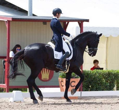 Juan Matute and Don Diego Ymas in the U25 Grand Prix at the CDI Can Alzina 2014 Barcelona, Spain (Photo: MariaGuimon.com)