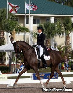 Yvonne Losos de Muñiz and Dondolo begin their Grand Prix career