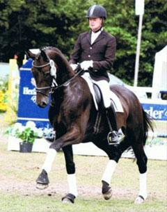 Stefan Blanken on Doolittle 2nd place at the Hadeln Riding Horse Championships at Dobrock in August 2010