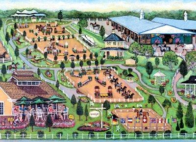 Under new ownership, with beefed up footing, the amiance and tradition continues at The Lamplight Equestrian Center, Wayne, Illinois