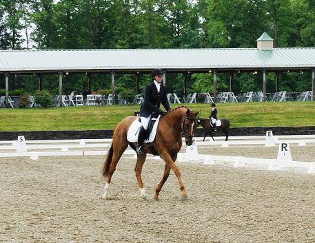 Sidney Blashock competes in the Dressage Phase of the Festival