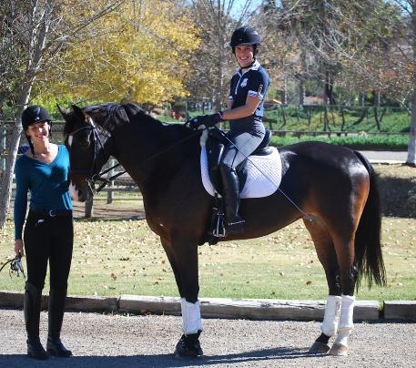 Owner Dana Williams with Verite and training grant recipient Para-Equestrian Ashleigh Flores-Simmons