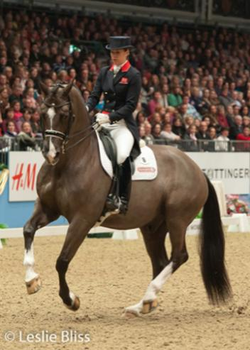 Great Britain's Charlotte Dujardin and Valegro, members of the team that won a historic first gold medal for Britain at the 2011 European Dressage Championships has now joined the line up. (Photo: Leslie Bliss)