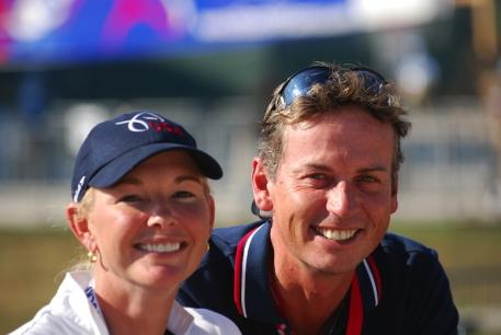 Katherine Bateson-Chandler and Carl Hester (Courtesy of KBC Dressage)