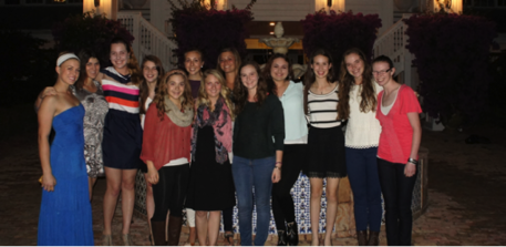Emerging Dressage Athletes at the Hampton Green Farm Fundraising Party Photo: Betsy LaBelle