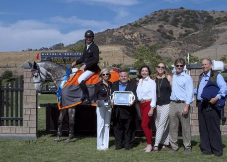 Menezes and La Fleur 4 pictured with representatives from St. Regis Monarch Beach and Blenheim EquiSports. Photo courtesy of McCool Photos