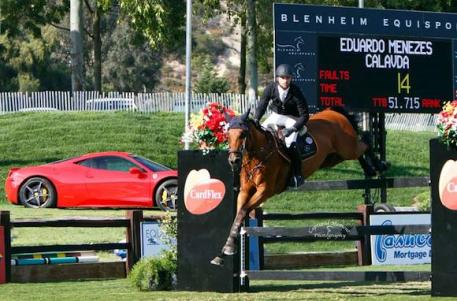 Eduardo Menezes and Calavda in the jump-off. Photo courtesy of CapturedMomentPhoto.com