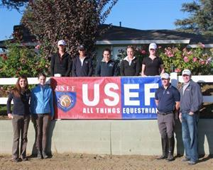 Participants in the USEF Elite Youth Dressage Training Session (USEF Archive)