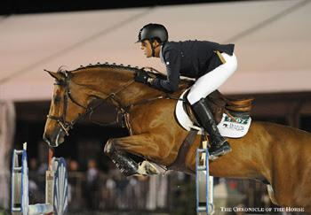17-year-old Emanuel Andrade of Venezuela guided ZZ Top v/h Schaarbroek Z to a fifth place finish in the ,000 CSI3* Salamander Hotels & Resorts Grand Prix on February 14 at the FTI Consulting Winter Equestrian Festival in Wellington, FL. Photo by The Chronicle of the Horse/Mollie Bailey