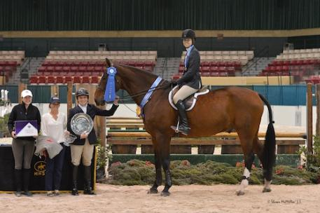 Emily Ambach and Renaissance in their winning presentation. Photo © Shawn McMillen Photography.