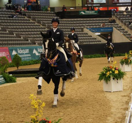 Emily Wagner and Wakeup win the Intermediate 1 Championships with a score of 72.412%  Photo: DressageDaily