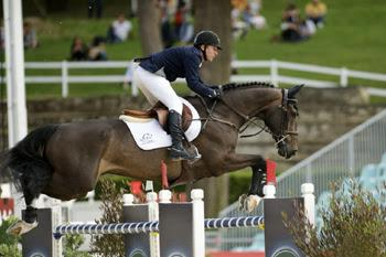 Eric Lamaze and Zigali P S, owned by Artisan Farms, won the €24,000 1.50m Premio 3 on opening day of CSIO5* Rome, Italy. Photo by NoelleFloyd.com