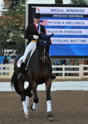 USA Dressage wins all there individual medals: Heather Blitz-Silver, Steffen Peters, Gold, and Marisa Festerling, Bronze