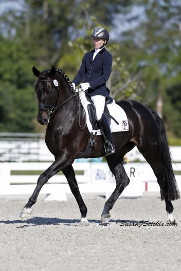 Fiderhit OLD and Nadine Buberl scored an 81.8% in the Five-Year-Old class at the Palm Beach Dressage Derby. (Photo: SusanJStickle.com)