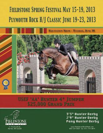 The Fieldstone Spring Festival and Plymouth Rock Hunter/Jumper Classic prize list is now available online. Photo Courtesy of the Client.