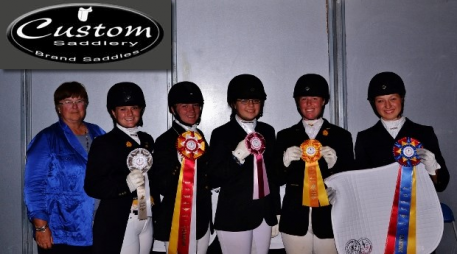 First Level and Up Level Winners at the Atlanta Youth Dressage Challenge  Photo: Marc Mesa