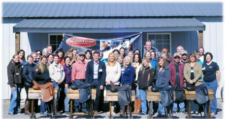 Custom Saddlery recently hosted an exciting, week-long continuing education meeting and event for saddle fitters. Drawing over 40 saddle fitters from around the world, including Canada, Holland and the UK. (Photo: courtesy of Custom Saddlery)