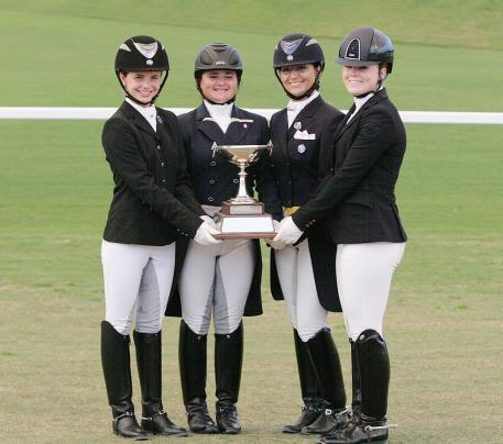 Youth Trophy with four sides for each years winner in FEI Pony, Junior, Young Rider, and U25 at the Florida International Youth Dressage Championships Photo: Betsy LaBelle