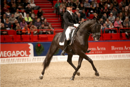 Edward Gal, NED and Glock's Voice during the the Reem Acra FEI World™ Cup Dressage. (Photo: FEI/Roland Thunholm)