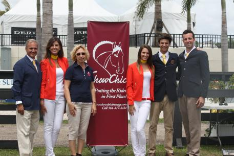 Michele Hunt with the Matute family, who won the Turn Out Award during the 2013 Adequan Global Dressage Festival.