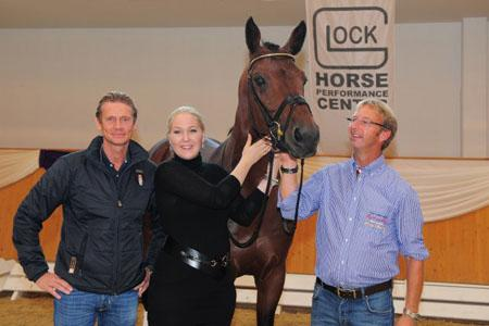 Edward Gal, Kathrin Glock and Marcel Schoenmakers and the dutch stallion Ziësto © GHPC
