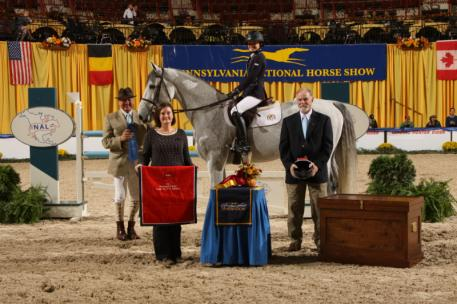 Giavanna Rinaldi and G.P.S. BRILLIANT DISGUISE accept their awards (photo © AlCookPhoto.com)
