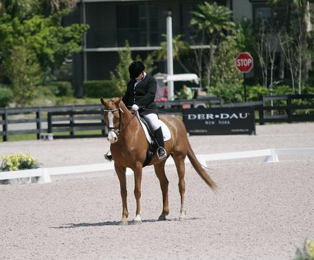 Grace Gregory and her mare compete at the Adequan Global Dressage Festival  Photo: Betsy LaBelle