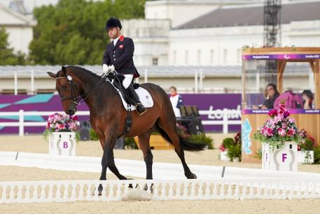Lee Pearson and Gentleman give Great Britain a first strong team score (Photo: FEI/Liz Gregg)