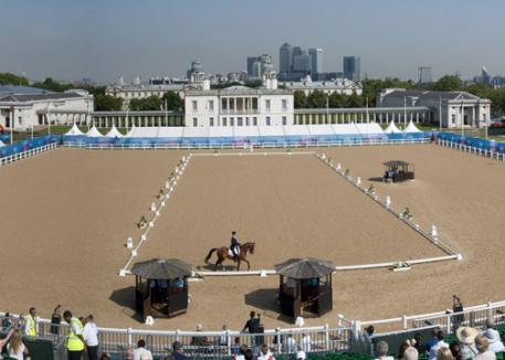 Greenwich Park, pictured here at the London Prepares Test Event in July, will provide a spectacular backdrop for the London 2012 Olympic and Paralympic Games. Photo: Kit Houghton/FEI.