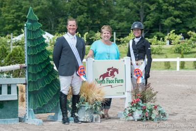 Greg Crolick and Molly Ashe received the top-two awards in the ,000 North Face Farm Leading Hunter Rider Cash Bonus Awards from sponsor Anne Haas