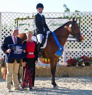 Gretta Williams and Dantares have a dream weekend, winning Lower Level Amateur High Percentage Champion and the RAAC Training Level Test 3 (Photo: Sheri Scott)