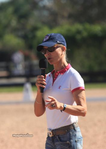 "USET Dressage Technical advisor Anne Gribbons joined the elite selection of trainers Courtney Dye, Kathy Connelly, Lendon Gray, and Katherine Bateson Chandler, puting the ""mega"" in the title mega clinic. (Photo: Mary Phelps, phelpsphotos.com)"