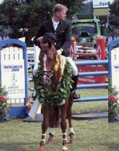 Grisella (Grand Cru-Amarillo), a Hanoverian mare that won the 4 year old Show Jumping Championship at Dobrock and was subsequently sold privately to Switzerland