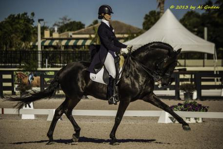 Caroline Roffman and Uruguai at the Florida Dressage Classic CDI. (Photo courtesy of Al Guden)