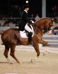 Catherine Haddad and Winyamaro - Winner of the Grand Prix and Special. (Photo Sharon Packer)
