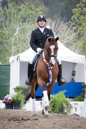 Brian Hafner & Lombardo LHF earn another win in the Grand Prix Freestyle at the Capistrano Dressage International CDI-W. (Photo: Terri Miller)