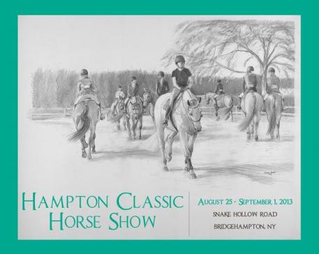 The Hampton Classic Horse Show is pleased to announce that it has selected Jocelyn Sandor Urban, a noted equestrian painter,  as its 2013 poster artist.