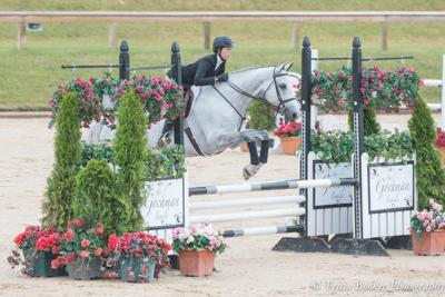 Hannah Satterlund riding Apollo