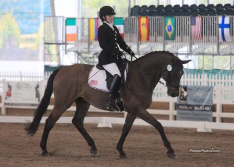 Rebecca Hart riding Lord Ludger, a Holsteiner owned by Jessica Ransehousen