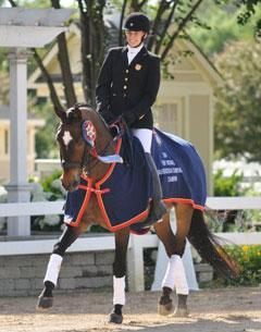 Rebecca Hart and Kazan win USEF Para-Equestrian Dressage National Championships and top USEF Para-Dressage Selection Trials for 2010 Alltech FEI World Equestrian Games™.  Photo © 2010 Lindsay McCall/PMG