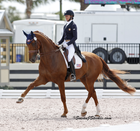 Heather Blitz and Paragon competing at the 2013 Adequan Global Dressage Festival. (Photo: SusanJStickle.com)