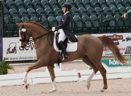 Heather Mason and Zar wins the Intermediate I Freestyle at the 2014 Adequan Global Dressage Festival Photo: Betsy LaBelle